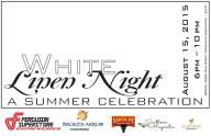 white linen poster