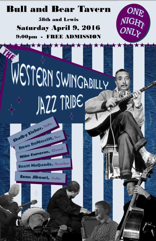 The Western Swingbilly Jazz Tribe April 9