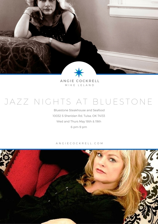 Angie Cockrell at Bluestone May 18 and 19 2016