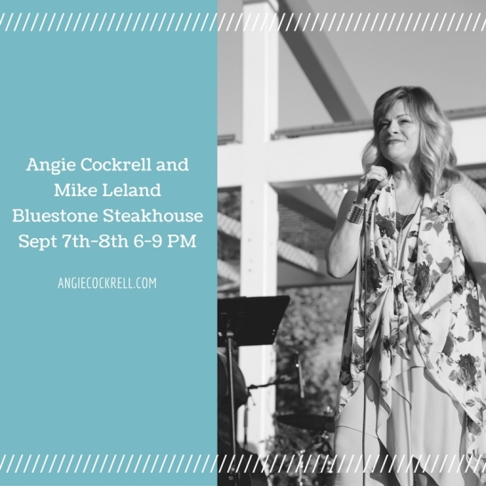 Angie Cockrell and Mike Leland Bluestone Steakhouse Sept 7th-8th 2016 6-9 PM