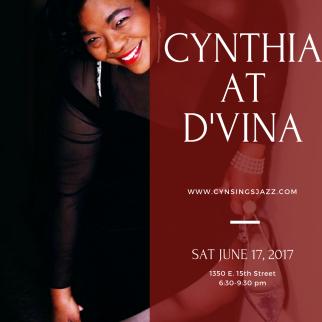 Cynthia at D'vinas 6.17.17