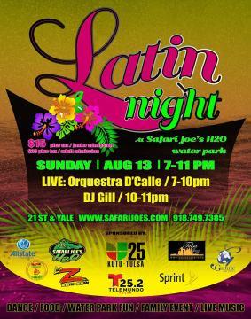 safari joes latin night